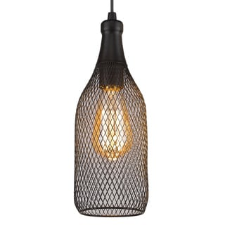 Free-collocational Mesh Enclosure Pendent Light (Bonus LED Bulb Is Included until 10/31/2016)