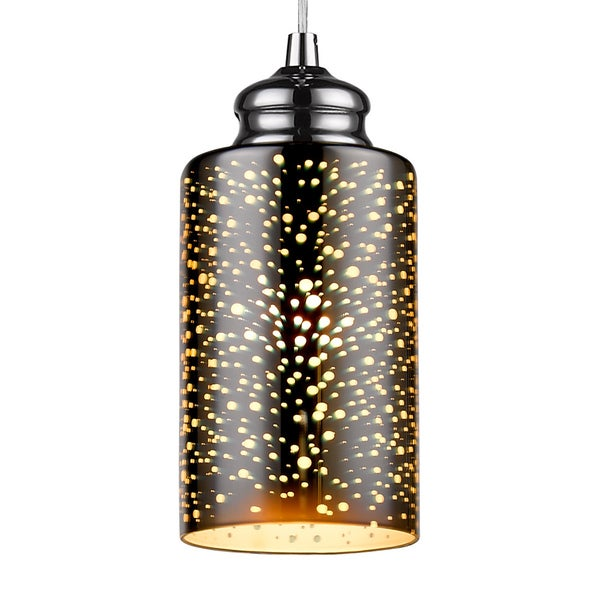 Infurniture Flexible Pair Mini Pendant Light in 3D Colorful Glass Cylinder
