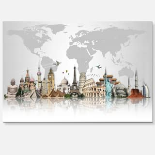 Famous Monuments Across World - Art Glossy Metal Wall Art|https://ak1.ostkcdn.com/images/products/12749735/P19526528.jpg?impolicy=medium