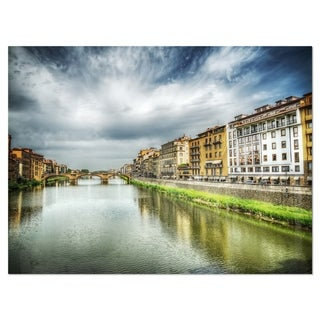 Link to Arno River under Dramatic Sky - Cityscape Glossy Metal Wall Art Similar Items in Metal Art