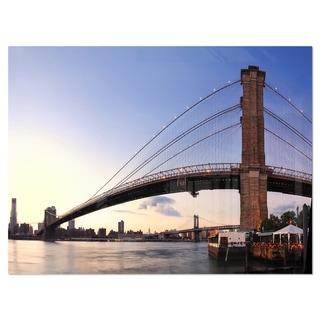 Brooklyn Bridge in New York City - Cityscape Glossy Metal Wall Art