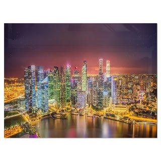 Link to Singapore Skyline View of Marina Bay - Cityscape Glossy Metal Wall Art Similar Items in Metal Art