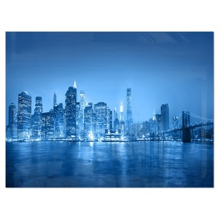 Link to Blue Panorama of New York City - Cityscape Glossy Metal Wall Art Similar Items in Metal Art