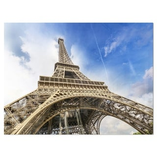 Link to Fantastic View of Paris Eiffel Tower from Ground - Cityscape Glossy Metal Wall Art Similar Items in Metal Art