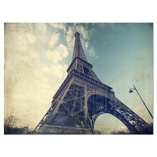 Link to Paris Eiffel Tower Vintage View from Ground - Cityscape Glossy Metal Wall Art Similar Items in Metal Art