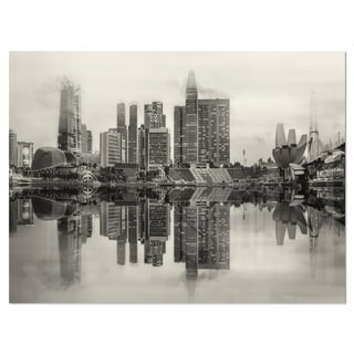 Link to Singapore Skyline View Panorama - Cityscape Glossy Metal Wall Art Similar Items in Metal Art