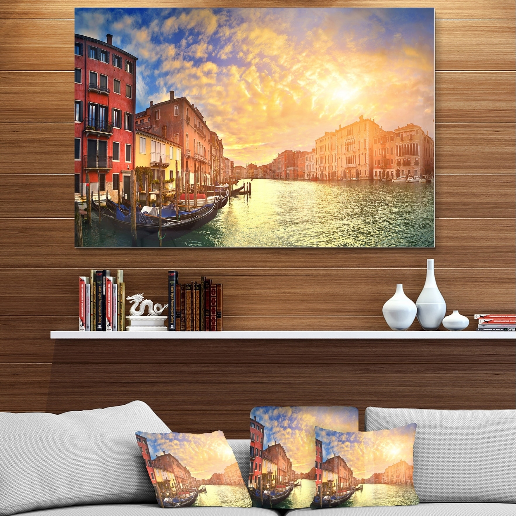 Shop For Majestic Sunset Over Venice Cityscape Glossy Metal Wall Art Get Free Delivery On Everything At Overstock Your Online Art Gallery Shop Get 5 In Rewards With Club O 12750075