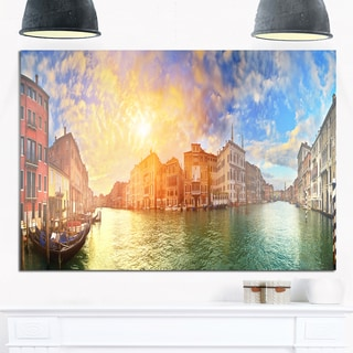 Grand Canal Venice Panorama - Cityscape Glossy Metal Wall Art