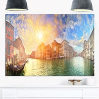 Grand Canal Venice Panorama - Cityscape Glossy Metal Wall Art