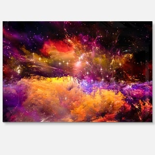 Universe Fractal Burst - Abstract Large Abstract Art Glossy Metal Wall Art