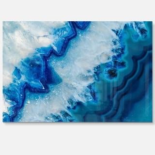 Geode Slice Macro - Abstract Digital Art Glossy Metal Wall Art