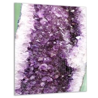 Purple Precious Stones - Abstract Digital Art Glossy Metal Wall Art