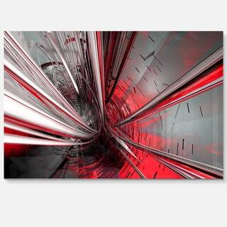 Fractal 3D Deep into Middle - Abstract Art Glossy Metal Wall Art