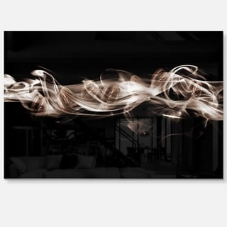 Fractal White Smoke - Abstract Art Glossy Metal Wall Art