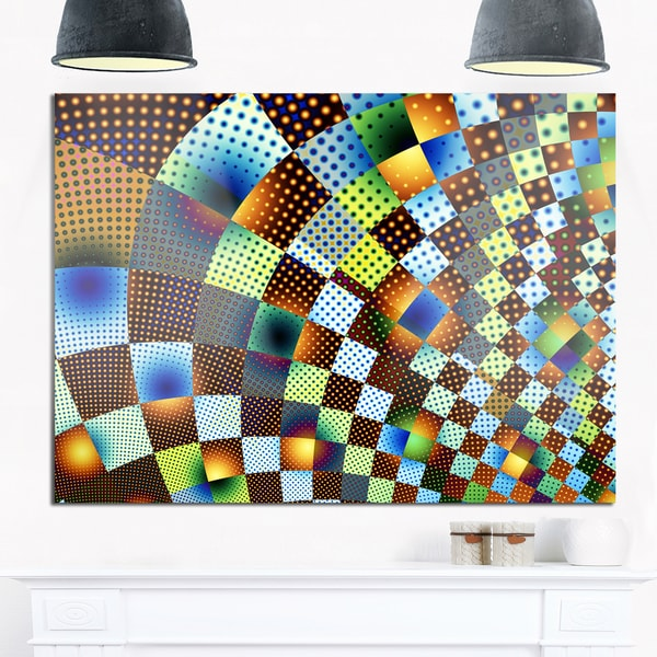 Fractal Geometric Ornament Design - Abstract Art Glossy Metal Wall Art