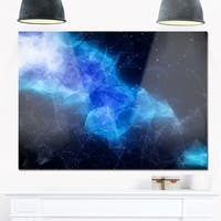 Blue Nebula in Cosmos - Abstract Art Glossy Metal Wall Art