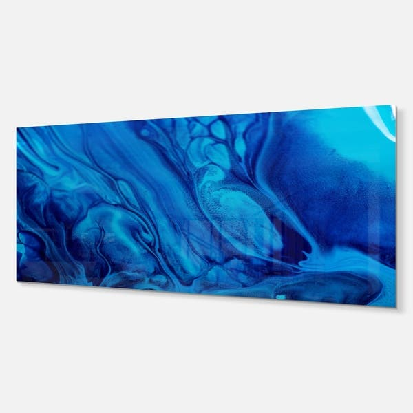 Shop Dark Blue Abstract Acrylic Paint Mix Abstract Glossy