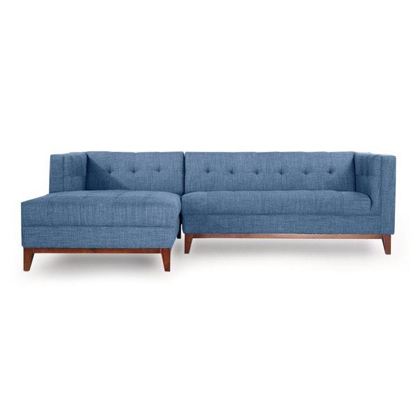 Shop Kardiel Harrison Mid Century Modern Twill Loft Sofa Left Chaise