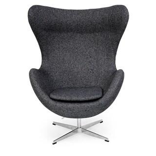 Kardiel Houndstooth Twill Fabric Amoeba Chair