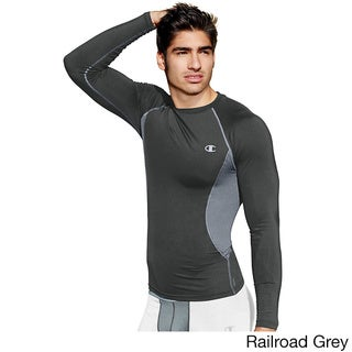 Champion Gear Men's Multicolored Polyester/Spandex Compression Long-sleeve T-shirt