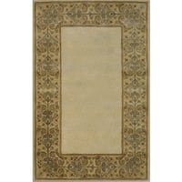 Hand-tufted Imperial Beige Wool Rug (9'6 x 13')