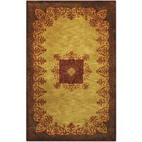 Hand-tufted Imperial Gold Wool Rug (8' x 11') - 8' x 11'