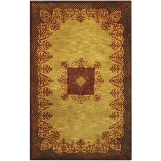 Hand-tufted Imperial Gold Wool Rug (8' x 11')