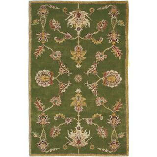 Hand-tufted Harmony Green Wool Rug (9'6 x 13)