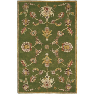 Hand-tufted Harmony Green Wool Rug (5' x 8')