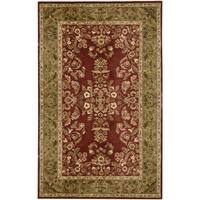 Hand-tufted Avalon Fern Wool Rug (8' x 11')