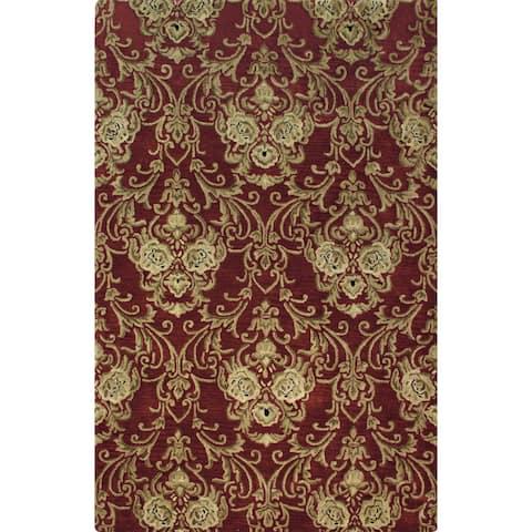 Hand-tufted Atlas Wool Rug (9'6 x 13') - 9'6 x 13'