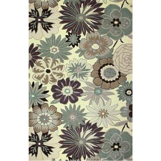 Hand-tufted Encore Garden Wool Rug (5' x 8')