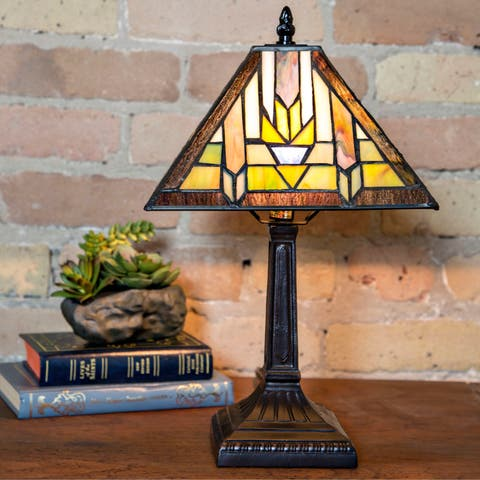"""The Curated Nomad Bradshaw Mission Style Santa Fe Table Lamp - 9""""L x 9""""W x 15.25""""H"""
