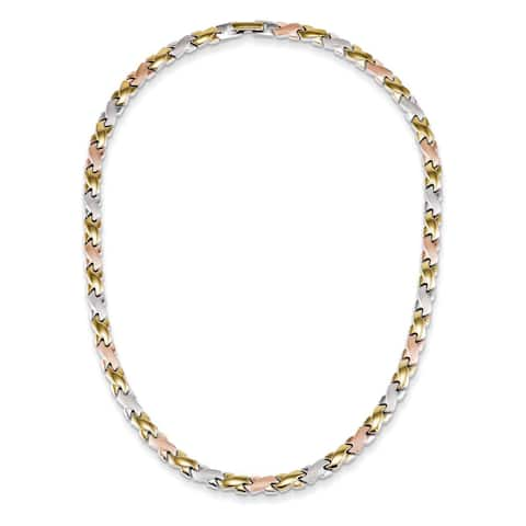 Chisel Two-tone Stainless Steel 18-inch Necklace