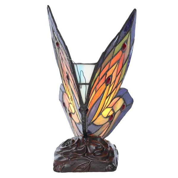 multicolored glass resin brass butterfly wings accent lamp ebay. Black Bedroom Furniture Sets. Home Design Ideas