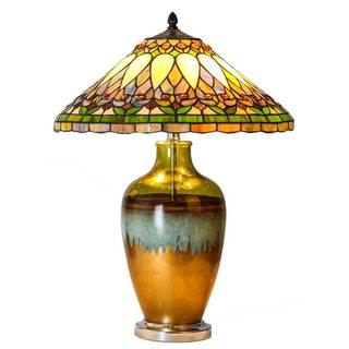 Tiffany-style Tuscany Sunset Stained Glass 25-inches High Table Lamp