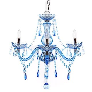 River of Goods Acrylic Crystal 17.5-inch H-jeweled 3-arm Chandelier