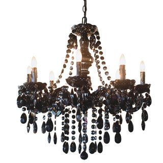 River of Goods Glam Dame Black 24.5-inch Jeweled Chandelier