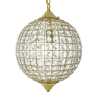 Golden Glam 18-inch Hanging Pendant Lamp