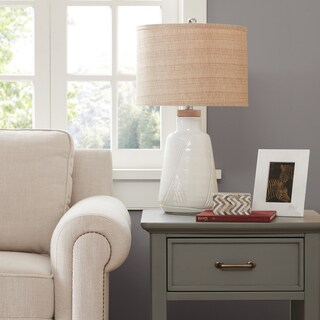 Madison Park Tate Ivory Taten Table Lamp