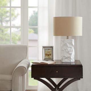 Madison Park Crimp Ivory Table Lamp