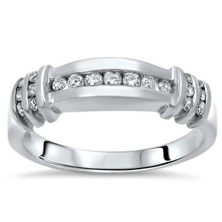 Noori 14k White Gold Men's 1/3ct Round Diamond Ring (H-I, SI1-SI2)