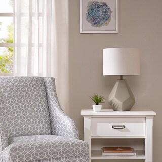 Intelligent Design Facet Grey Table Lamp