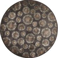 Hand-tufted Mirage Chocolate Wool Round Rug (6' x 6')