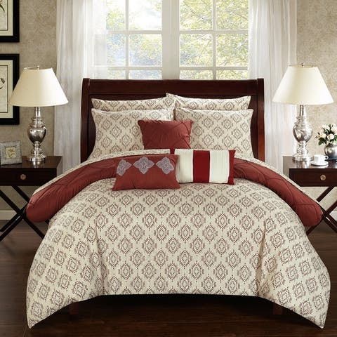 Copper Grove Khaptad Southwest Geometric Print 10-piece Bed in a Bag with Sheet Set