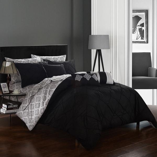 Chic Home 10-Piece Darlene Black BIB Comforter Set