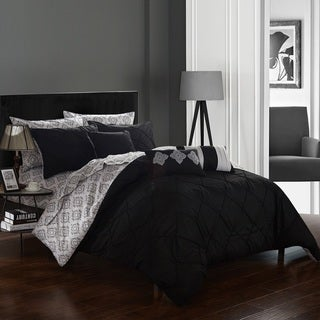 Chic Home 10-Piece Darlene Black BIB Comforter Set