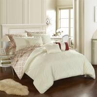 Chic Home 10-Piece Darlene Beige BIB Comforter Set