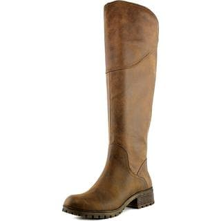 Lucky Brand Women's Harleen Brown Fabric Boots