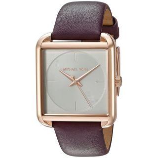 Michael Kors Women's MK2585 'Lake' Purple Leather Watch